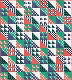 Scrappy Spots Free Pattern: Robert Kaufman Fabric Company