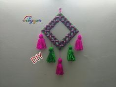 DIY // wall hanging from pistachio shell // Tassel wall hanging - YouTube