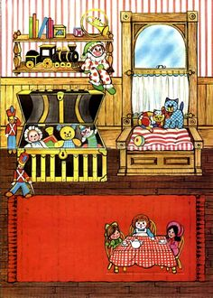 The Ginghams Paper Dolls and Coloring Books Paper Doll House, Paper Dolls Book, Paper Houses, Vintage Paper Dolls, Paper Toys, Foam Crafts, Paper Crafts, Paper Art, Diy Crafts