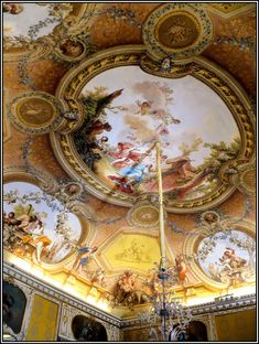 Ceiling Mural Caserta Royal Palace / Reggia di Caserta, Italy  ~By Mo Westein 1 Flickr