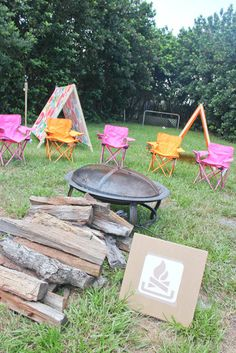 Need plenty of chairs - spray paint a circle around the fire pit that chairs and bodies cannot cross!