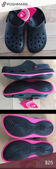 NWT Crocs. Ladies - brand new. NWT Crocs. Ladies - brand new. Skylar Clog. Two tone, black and pink. CROCS Shoes Mules & Clogs