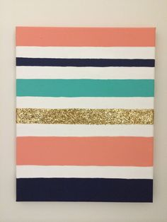 #DIY #Canvas #Stripes #Glitter You can get your own at my etsy shop! https://www.etsy.com/shop/CommonCanvas