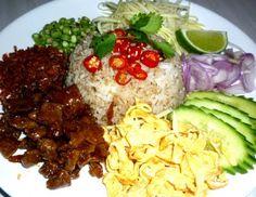 my favorite: khao kluke kapi-rice with shrimp paste and condiments