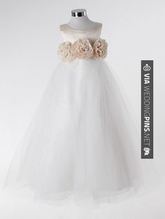 Yes - Empire style ball  tulle sleeveless flower girl dress | CHECK OUT MORE GREAT FLOWER GIRL AND RING BEARER PHOTOS AND IDEAS AT WEDDINGPINS.NET | #weddings #wedding #flowergirl #flowergirls #rings #weddingring #ringbearer #ringbearers #weddingphotographer #bachelorparty #events #forweddings #fairytalewedding #fairytaleweddings #romance