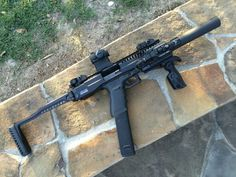 Glock 20 10mm conversion kit. sbr, suppressor, red dot, 30 round magazine