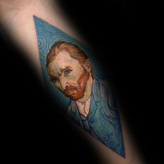 Vincent Van Gogh's Self-Portrait. If you want something gentle yet effective, this self- portrait of himself is a great choice.