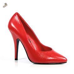 "SEDUCE-420 5"" Classic Pump, Red Leather-Size 5 - Pleaser pumps for women (*Amazon Partner-Link)"