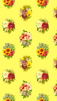 A bit like wallpaper. A seamless pattern made from four different types of flowers. Different Types Of Flowers, Multi Colored Flowers, Inspirational Wallpapers, Flower Backgrounds, Flower Patterns, Just For You, Floral, Itunes, Girly