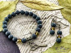Sötétzöld hegyikristály karkötő és fülbevaló R.M.ékszer szett Jewelry, Bracelets, Photos, Accessories, Blue Prints, Jewlery, Pictures, Jewerly, Schmuck