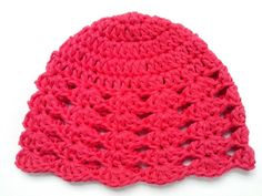 Crochet Baby 0 - 6 months Hat Beanie, 100% Cotton from Tatjana's Boutique by DaWanda.com