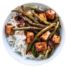This vegetarian Thai curry is less spicy and more fragrant than you might expect; add a dried chile de árbol if you like heat.