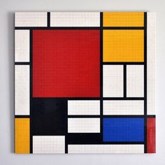 Tableau Mondrian en briques Lego