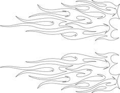 Tribal flame outline Free Stencils, Stencil Templates, Stencil Patterns, Stencil Painting, Stenciling, Paint Stencils, Printable Tattoos, Brush Tattoo, Beautiful Dark Art