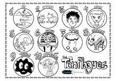 Coloring page. 10 plagues