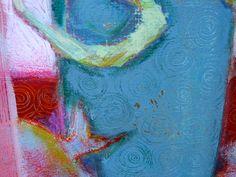 Le vase bleu détail Acrylics