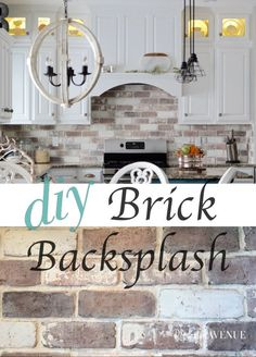 Do-It-Yourself Brick Veneer Backsplash - Remington Avenue