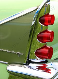 De Soto Firesweep 1958 ~~~ Love the color combination of olive green tail fins with the red tail lights on this 1958 Chrysler DeSoto!
