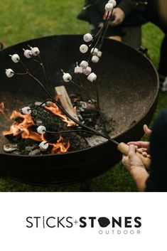 Our Marshmallow Fork is perfect to complete your fire pit and BBQ cooking utensils for an impressive outdoor feast. At Sticks + Stones Outdoor, we travel the globe to source the most stunning, affordable, practical and stylish items to help you create your own beautiful outdoor space. #outdooraccessories #firepits #BBQ #outdoorcooking