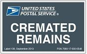Shipping Cremated Remains Via U.S. Mail