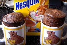 Mug cake Nesquik sans beurre Mug Dessert Recipes, Mug Recipes, Cake Recipes, Muffin Recipes, Breakfast Recipes, Nesquick, Easy Mug Cake, Mug Cake Microwave, Food Cakes