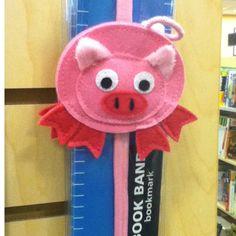 Felt Pig Bookmark