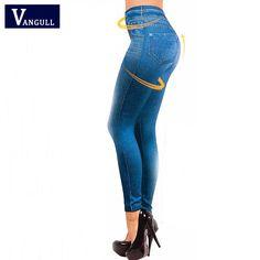 Hot Sale Women Leggings Jeans Leggins Black Jeggings 2016 Causal Plus Size Jeggings femal Blue gray Pants Hot Trousers