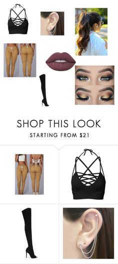"""Untitled #14"" by jess-sanchez ❤ liked on Polyvore featuring Gianvito Rossi, Otis Jaxon and Lime Crime"