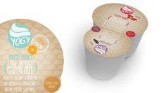 YOGY - frozen yogurt identity and packaging by Dora Schall, via Behance