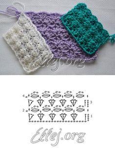 Узор «Сирень» — Crochet by Ellej | Вязание крючком от Елены Кожухарь