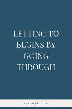 Letting Go Begins by Going Through | Nadia J Charles | Clinical Hypnotherapist & Life Coach