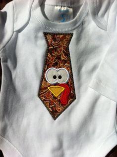 turkey tie onesie
