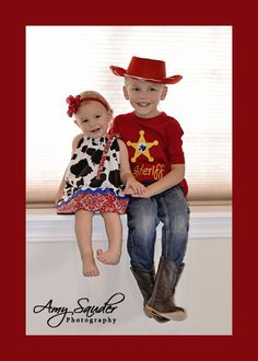 Brother Sister Disney Outfit Boys Cowboy Woody Inspired  Shirt sizes 12m-10. $18.00, via Etsy.
