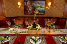 #TABLE SETTING MOTOR YACHT ARIOSO