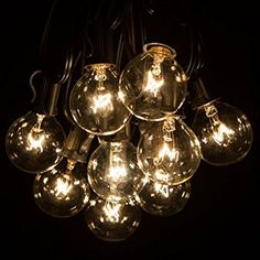 Pin by doris cheng on 2018 decoration light pinterest 100 foot g40 globe patio string lights with clear bulbs for outdoor string lighting black mozeypictures Images