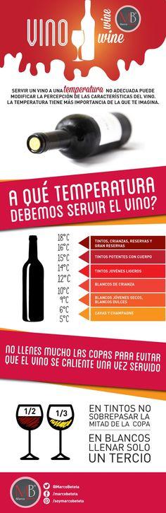 Servir un vino a una temperatura no adecuada puede modificar la percepción de las características del vino. La temperatura tiene más importancia de la que