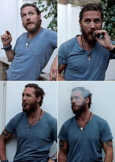 Scruffy, clean shaven, clothed or naked...I dont care the packaging. Tom Hardy is an enigma I'd like to investigate.
