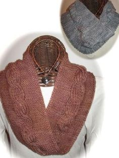 3d0f6b273380 Knitting - Reversible Cabled Cowl -  REK0720 by bertie Cable Cowl