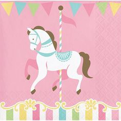 Pastel Carousel Party Napkins/ Carousel Party Napkins/