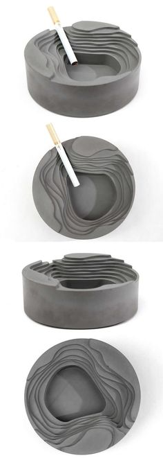Geometry Concrete Cigar Cigarette Ashtray