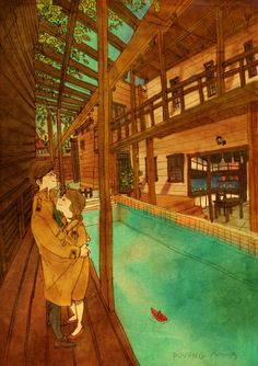 "♥ ""Ahhh, the season perfect for an outing and a trenchcoat has arrived.""  ~ ""THIS IS WHAT LOVE LOOKS LIKE…"" by Puuung at www.grafolio.com ♥"