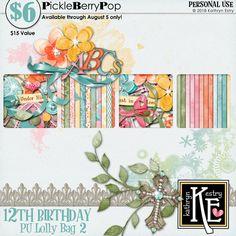 Lolly Bag 2 - PU {by Kathryn Estry} 12th Birthday, Birthday Celebration, Happy Birthday, Lolly Bags, Digital Scrapbooking, Happy Brithday, Urari La Multi Ani, Happy Birthday Funny, Happy Birth
