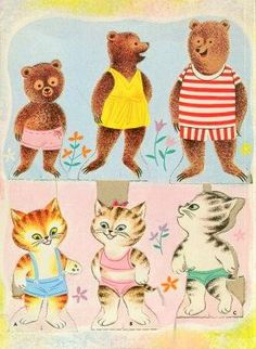 1963 Whitman paper dolls PIGS, BEARS, KITTENS 9 dolls Paper Dolls - MaryAnn - Picasa Web Albums