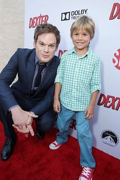 Michael C. Hall and Jadon Wells at Showtime's Dexter Season 8 Premiere on Saturday, June 15, 2013 in Los Angeles. (Photo by Eric Charbonneau/Invision for Showtime/AP Images)