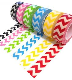 Polka Dot Birthday Supplies, Decor, Clothing: Chevron Washi Tape Rainbow for DIY Party Invitations and Favors Washi Tape Crafts, Paper Crafts, Diy Crafts, Washi Tapes, Tapas, Duct Tape, Masking Tape, Chevron Tape, Polka Dot Birthday