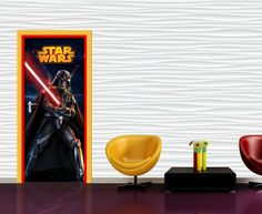 Star Wars Mural By WallandMore. Ca be applied both on the wall and door. Star Wars Wallpaper, Wallpaper Murals, Most Popular Movies, Kids Wall Murals, Item Number, Stars, Bedroom, Star Wars Backgrounds, Bed Room