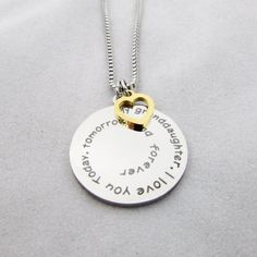 Gifts Necklace Name for Wife to My Brittany Always Remember That Mommy Love You You are Braver Than You Believe for Mom Daughter Jewelry 18K Gold Plated