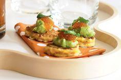 Corn Blini With Avocado And Salmon Roe Recipe - Taste.com.au