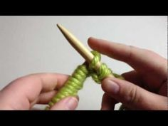 How to Knit - Knit Stitch Beginner (with closed Captions CC):    Needle knitting playlist! (Beginner & Slow!)