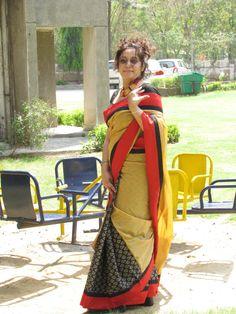 #Cotton and Silk #Designer #Saree